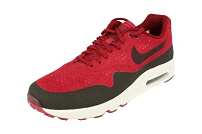sale retailer 46c61 4d907 Amazon.com   Nike Air Max 1 Ultra 2.0 Moire Mens Running Trainers 918189  Sneakers Shoes (UK 8 US 9 EU 42.5, Team red Black 600)   Road Running