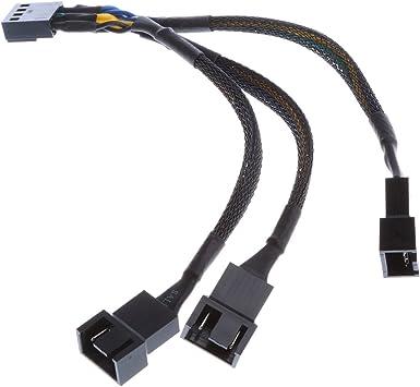 MagiDeal 15cm 4 Pines Y Divisor Ordenador Pc Ventilador Cable de...