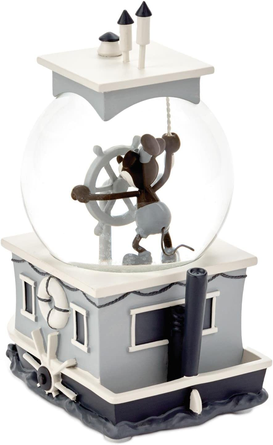 Hallmark Markering Corporation Mickey Mouse Steamboat Willie Special-Edition Musical Water Globe
