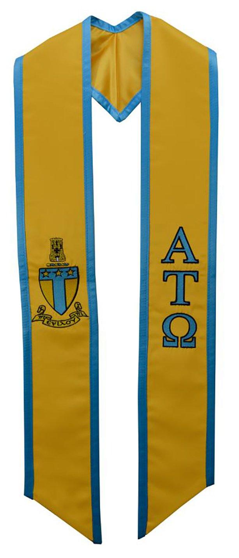 Alpha Tau Omega ATO Fraternity Deluxe Embroidered Graduation Stole