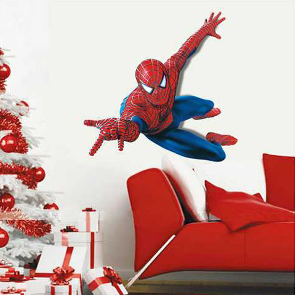 Exceptionnel Amazon.com: Huge Large Spiderman Wall Stickers Children Boys Bedroom Decal  Art Mural Decor: Kitchen U0026 Dining