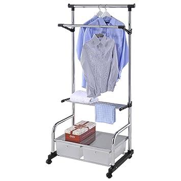 Kleiderstander Mex 74 Mobile Kleiderstange Roll Garderobe Fahrbar