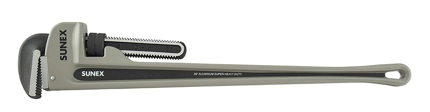 24 Aluminum Super Heavy Duty Pipe Wrench Phosphated Jaws