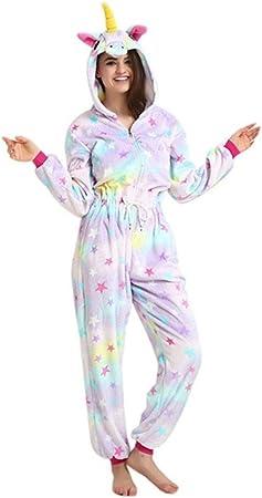 Kenmont Unicornio Pijamas Unisexo Adulto Traje Disfraz Animal Pyjamas Cosplay Carnaval Ropa de Dormir Deportiva (M, Estrella)