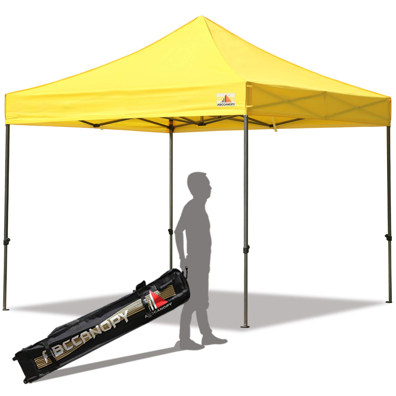ABCCANOPY Pop up Canopy Tent Commercial Instant Shelter with Wheeled Carry Bag, 10x10 FT Yellow