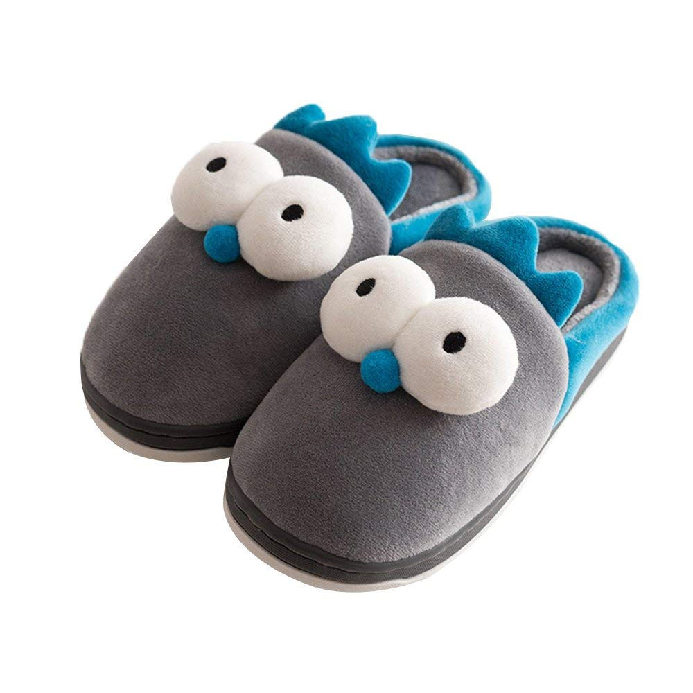 Q-Plus Cute Bunny Memory Foam Slide Slippers Boots Anti Slip Fluffy House Shoes Little Kids/Toddler