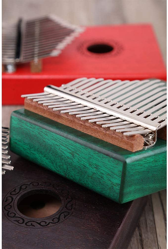 Alician 17 Key Kalimba Thumb Piano Kids Adults Body Music Finger Percussion Keyboard Green
