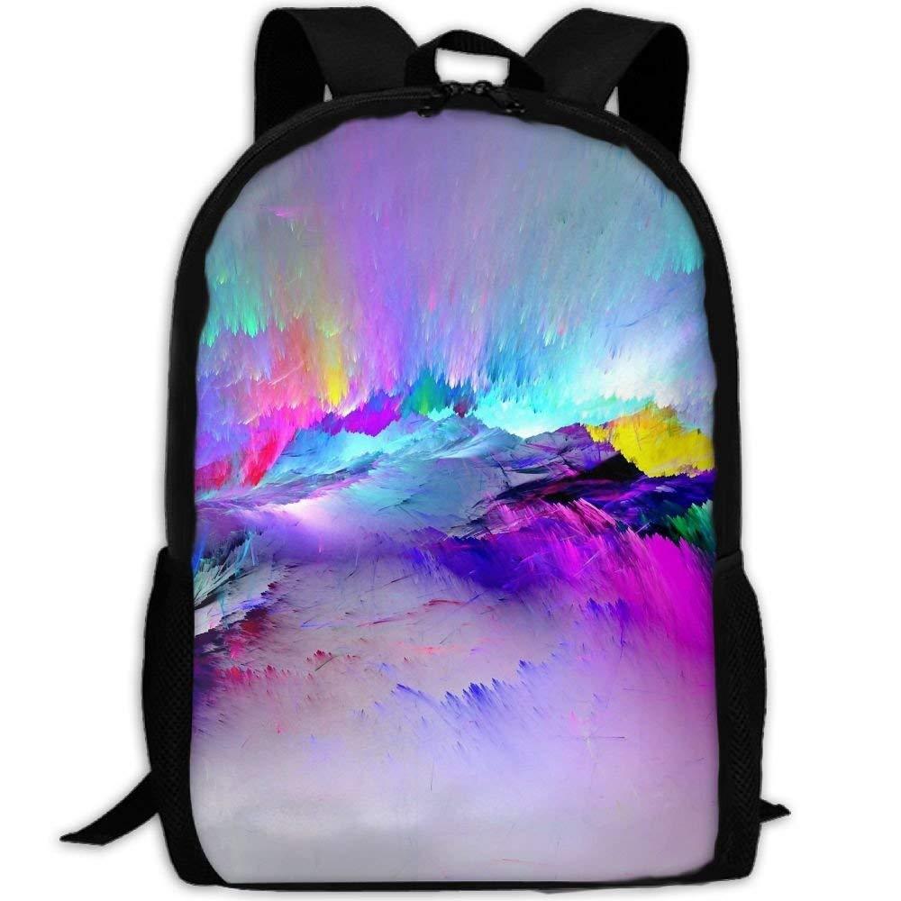 8c9bebd56d1d Amazon.com : LoveBea Adult Travel Hiking Laptop Backpack Color Paint ...