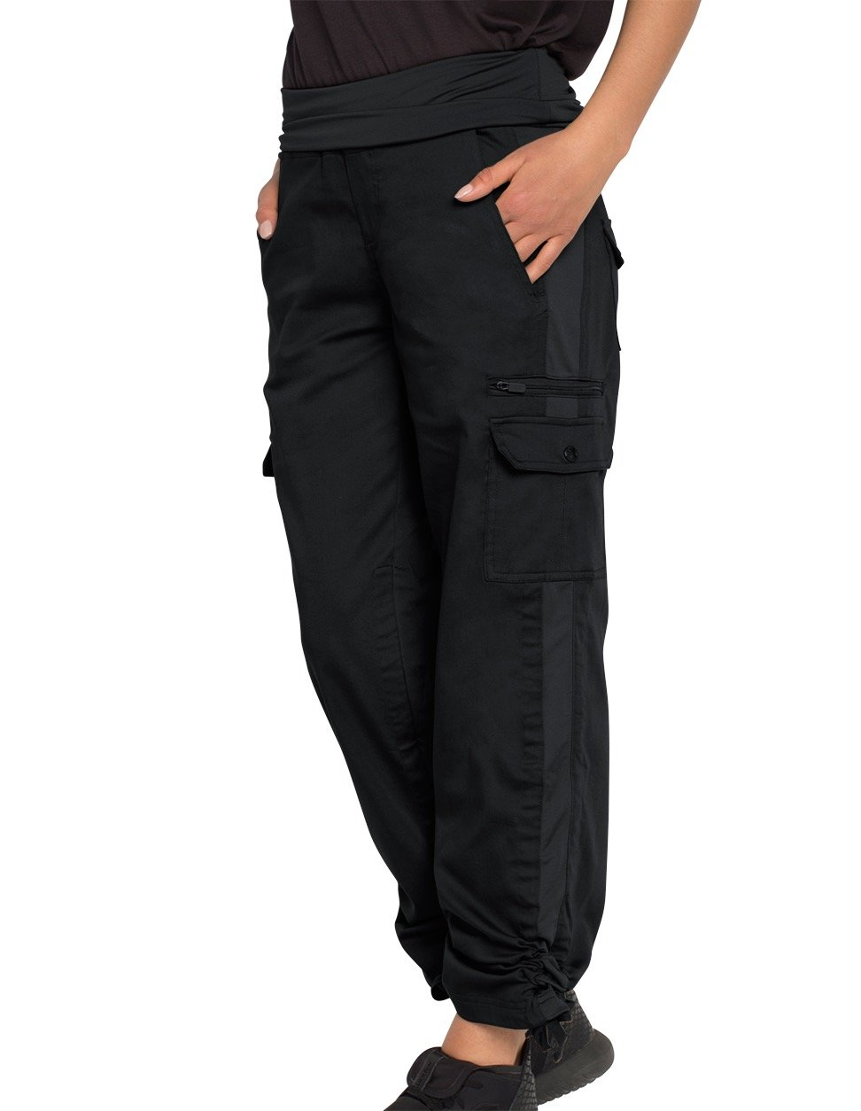 SCOTTeVEST Margaux Cargaux Travel Pants -11 Pockets- Travel Cargo Pants BLK L