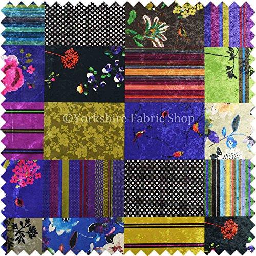 Yorkshire Fabric Shop Tela Aterciopelada con diseño de ...