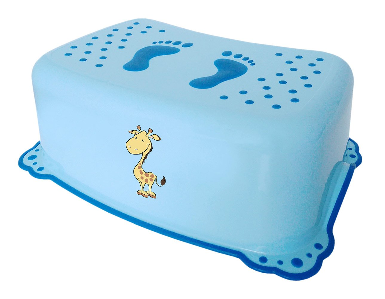 Bisk Anti-Slip Giraffe Childs Step Stool, Blue, 42x14x28cm Yes 06252