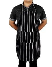 Delantal de tira de Sicai con bolsillos y correas ajustables para carniceros Kitchen Cooks Restaurant Bistro