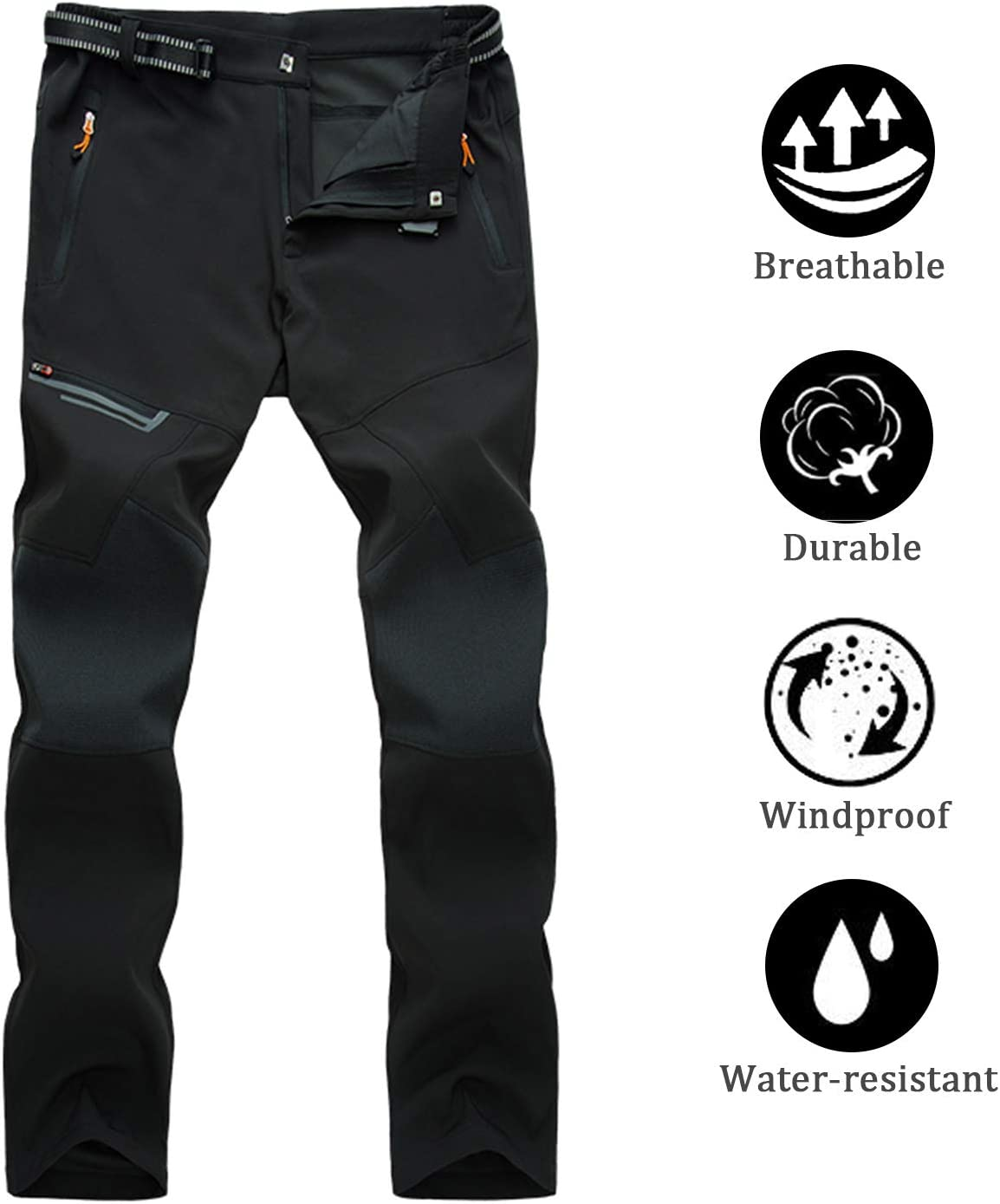 LHHMZ Women/'s Hiking Trousers Windproof Breathable Outdoor Sports Climbing Running Jogging Riding Trousers Slim Fit