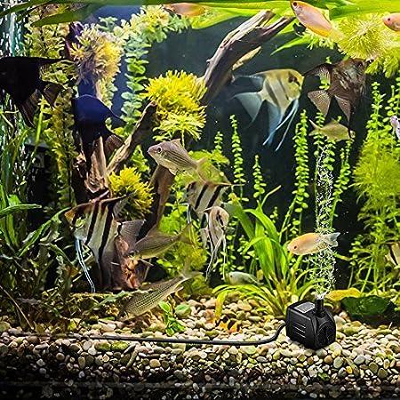 Cadrim Bomba sumergible,Bomba de agua,1200L/H 220-240V/50Hz Bomba de acuario,Estanque, Fuente, Sin ruido de natación: Amazon.es: Jardín