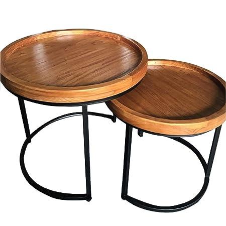 Table HAIZHEN Mesas Juego de café de Hierro Forjado de la Mesa ...