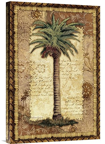 """Global Gallery GCS-125177-1624-142 """"Kathleen Denis Classic Palm I"""" Gallery Wrap Giclee on Canvas Print Wall Art from Global Gallery"""