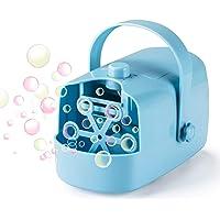 LDB Máquina de Burbujas Infantil,Máquina Portátil de Pompas de Jabón Niños Fiesta Infantil Escenario Bodas al Aire Libre en Interiores Perfecto Regalo