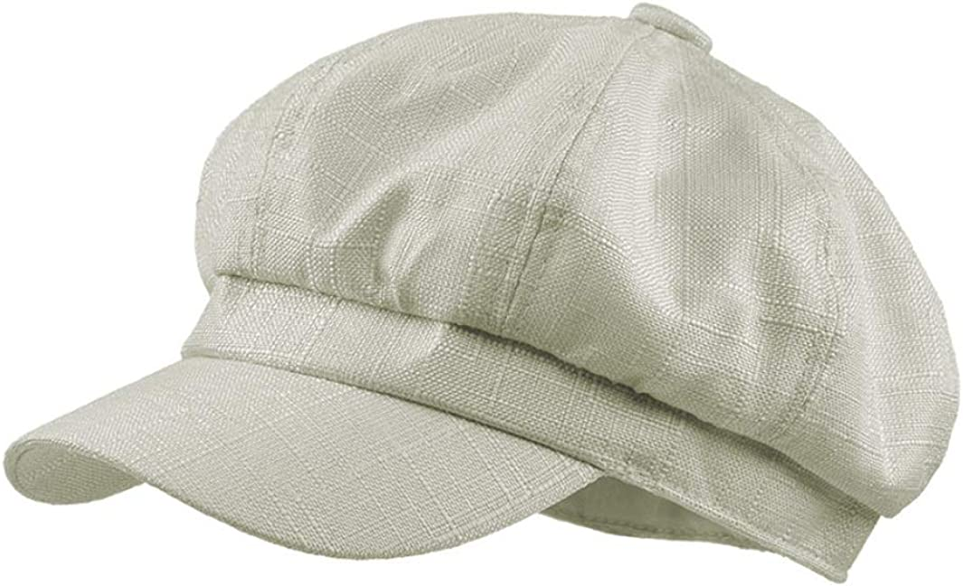 Women Solid Newsboy Cap...