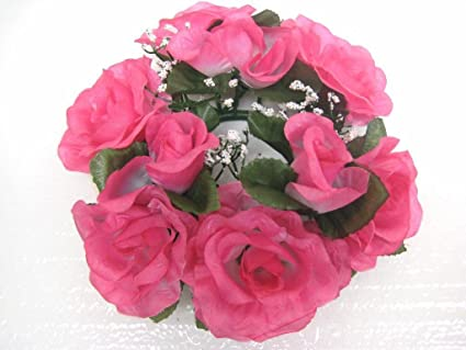 Amazon 3 candle rings roses center pieces artificial silk 3 candle rings roses center pieces artificial silk flowers 4005 beauty mightylinksfo