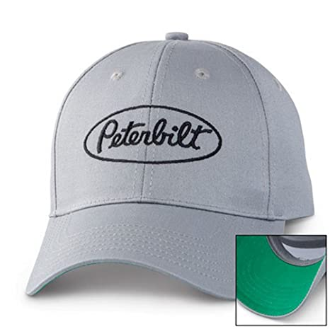 6d303a6ca935d Image Unavailable. Image not available for. Color  BD A Peterbilt Motors  Trucks Grey Pop of Green Cap Hat