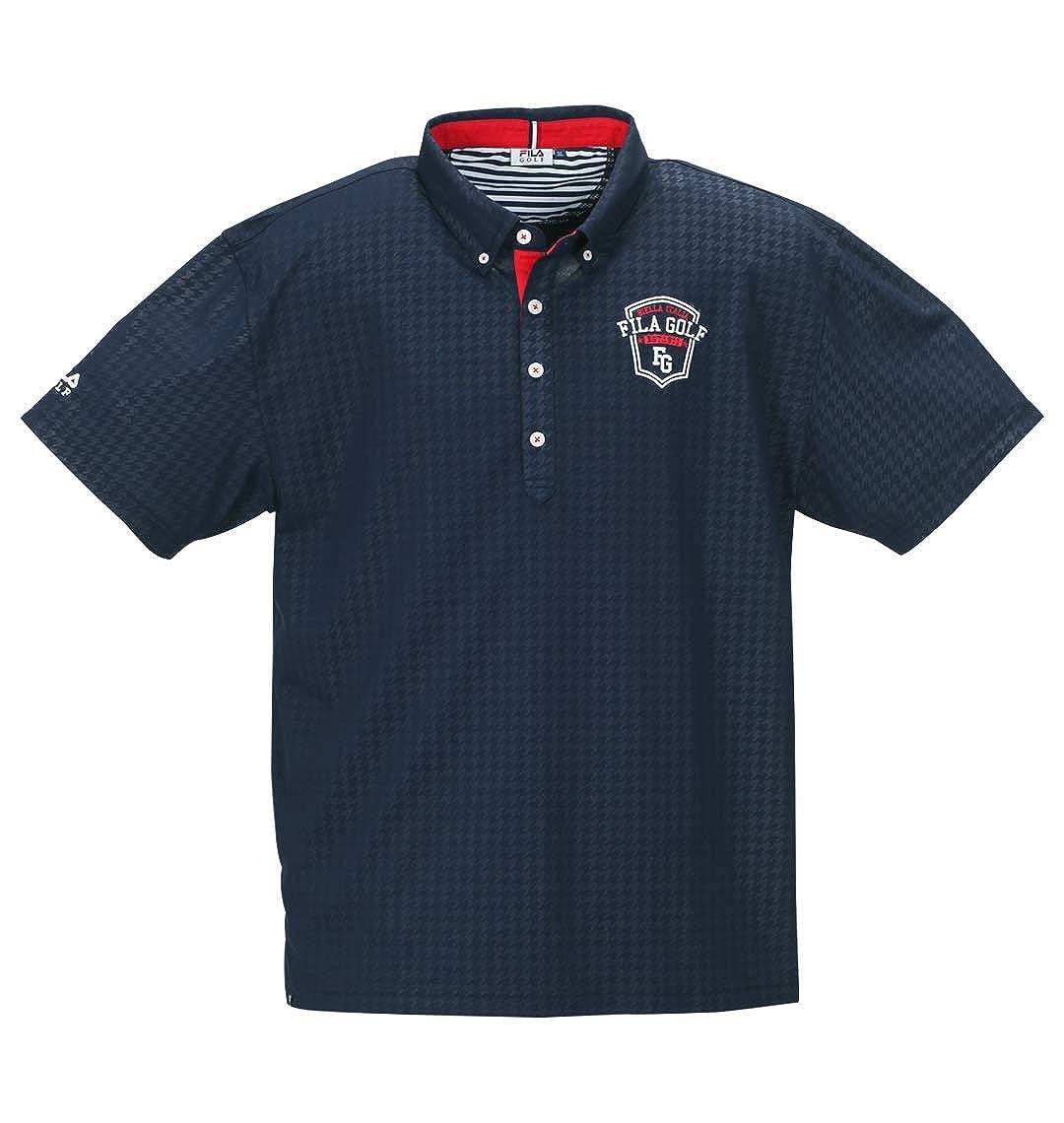 (フィラゴルフ) FILA GOLF 大きいサイズ チドリエンボス半袖ポロシャツ 6L  B07Q24SMSM