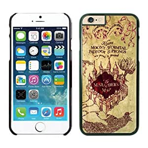 Cool Iphone 6 Plus Case 5.5 Inches, Harry Potter Marauders Map Black Phone Protective Cover Case for Apple Iphone 6 Plus