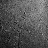 EZ FAUX DECOR Soapstone Countertop Look: Dark Gray Soapstone Countertop Peel and Stick Faux Stone 72''x 36'' DIY Counter Top Not Grandma's Contact Paper Premium Peel and Stick