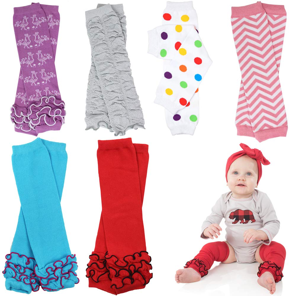 6 Pack Girl juDanzy leg warmers stripes, diamond,dots &solids