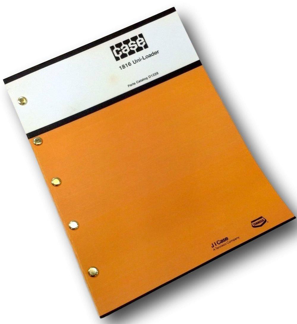 Amazon.com: J I Case 1816 Uni-Loader Skid Steer Parts Catalog Manual Book  Tecumesh Engine: Industrial & Scientific