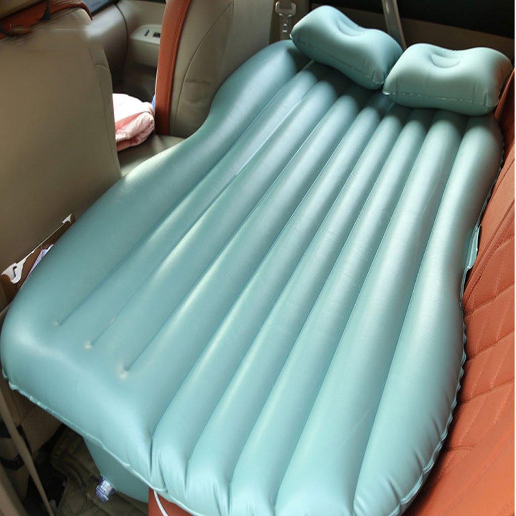 カーエアマットレスSUVカーリアトラベルベッドスリーピングパッドカーベッドエアクッション B07DS9QSPH  濃い緑色