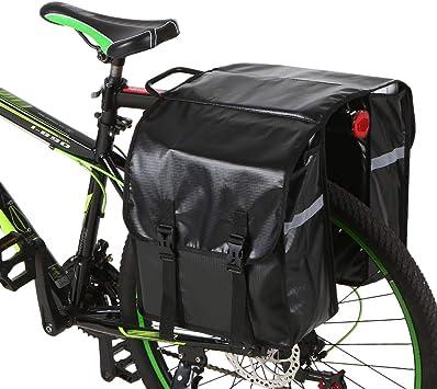 Lixada 28L Bolsa de Maletas de Bicicleta Bolsa de Bicicleta Trasera Resistente al Agua Bolsa de Bicicleta de Asiento Trasero Bolsa de Maletero Bolsa de Estante de Silla de Montar: Amazon.es: Deportes