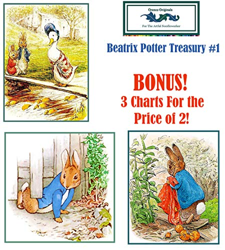 Beatrix Potter Deluxe Treasury#1-3 Counted Cross Stitch Patterns Charts