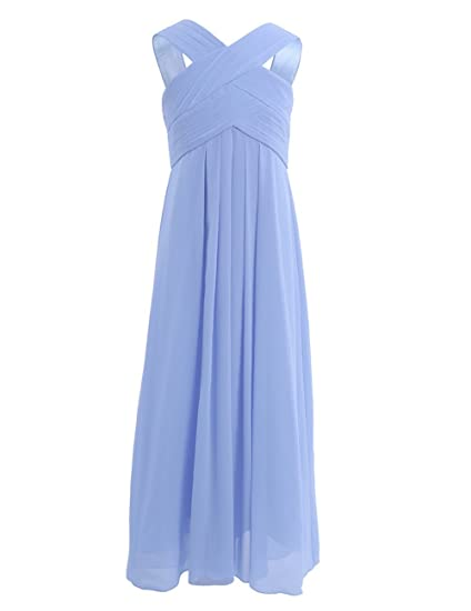 9882ac9b2453 iiniim Criss Cross Junior Flower Girl Dress Wedding Party Prom ...