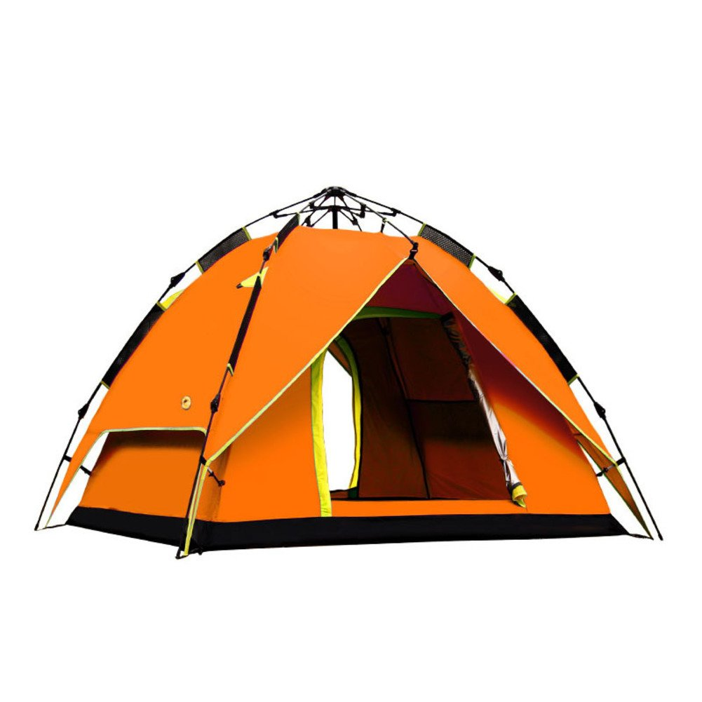 TY&WJ Campingzelt,Vollautomatische Zelte Double Layer Regendichte Kuppelzelte Portable Faltung Tipi Für Outdoor-sportarten Reise Wandern 3-4 Personen