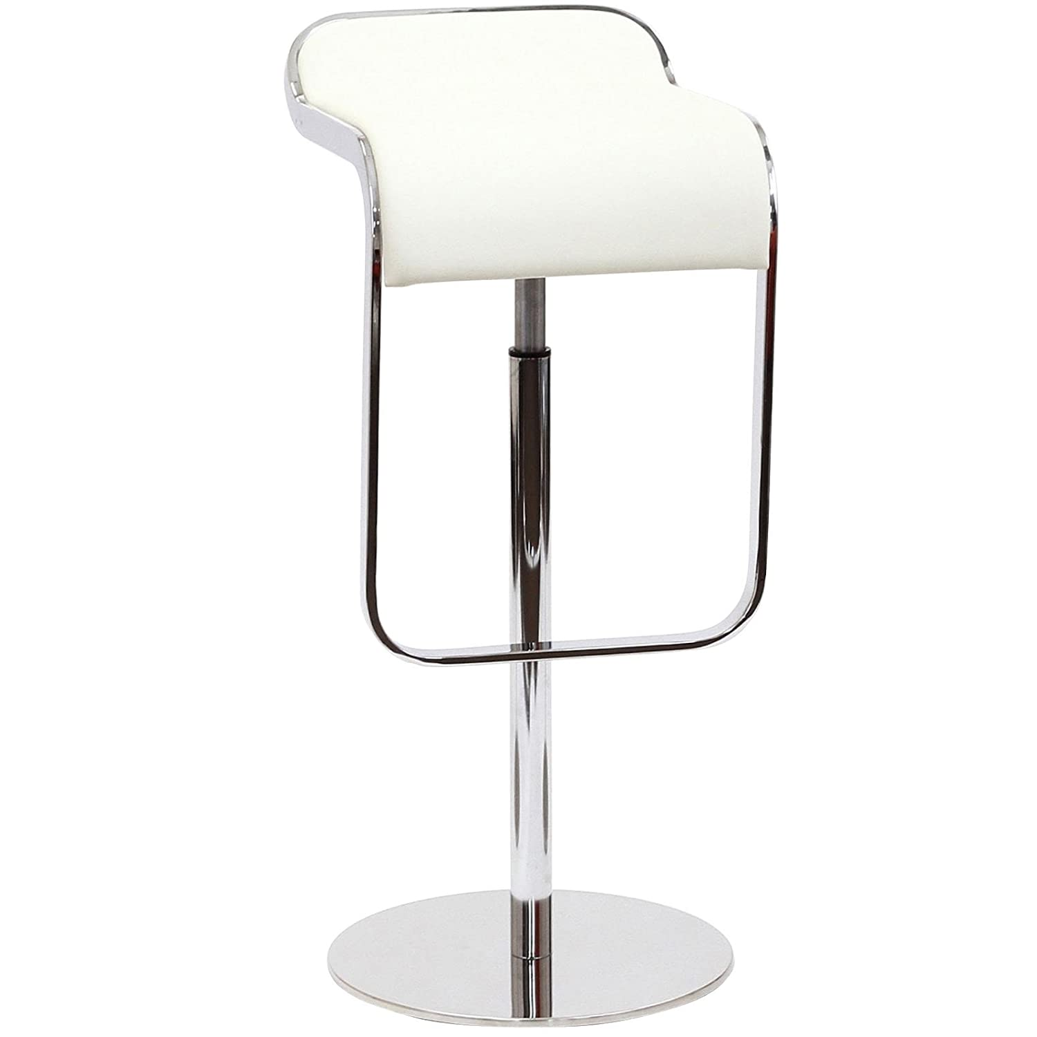Amazon Modway LEM Style Piston Bar Stool in White Genuine