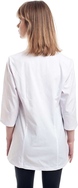XS -3XL Bianco Camice da Laboratorio per Dottori Medico Lavoro da Donna Cosplay Scienziati Infermiera Laboratorio Instituto Medico Camice Laboratorio per Donne Studente per Ospedale