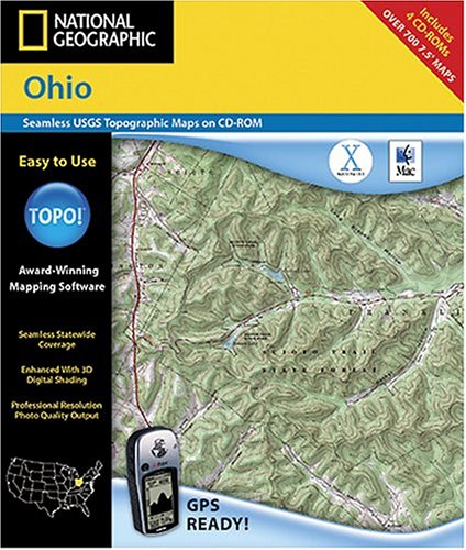 National Geographic TOPO! Ohio Map CD-ROM (Mac)