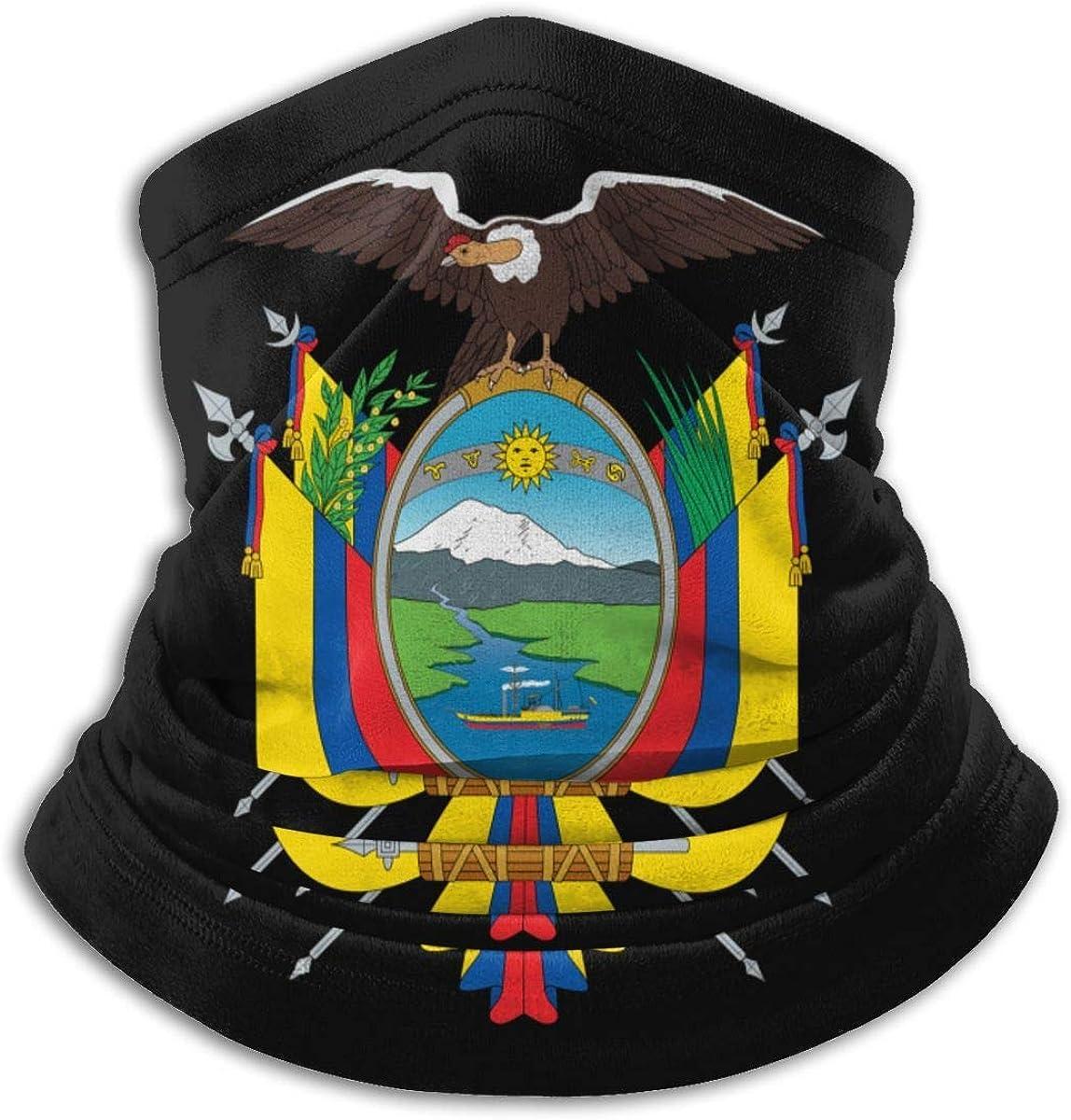 Ecuador Eagle Boat Badge Bandera Cuello Calentador Bufanda Polaina Mascarilla Bandanas para polvo Clima frío Invierno al aire libre Festivales Deportes para hombres y mujeres