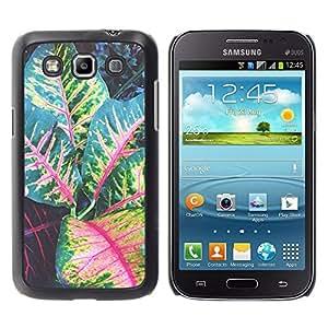 For Samsung Galaxy Win / I8550 / I8552 / Grand Quattro Case , Leaves Tree Green Red Stripes - Diseño Patrón Teléfono Caso Cubierta Case Bumper Duro Protección Case Cover Funda