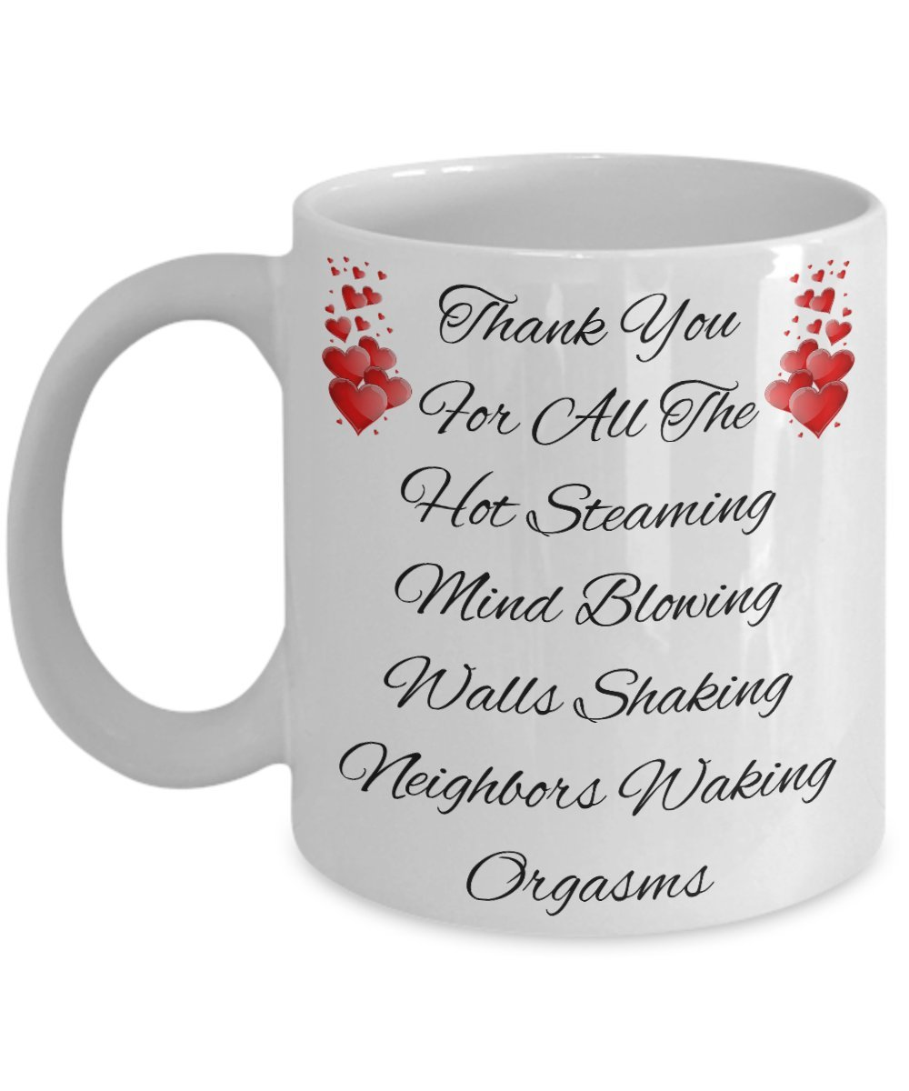 Amazon.com: Sexy Naughty Gag Funny Orgasms Gifts For Anniversary Fiance  Wife Husband Girlfriend Boyfriend Men Women Couples Lover Partner 11 oz  Coffee Mug ...