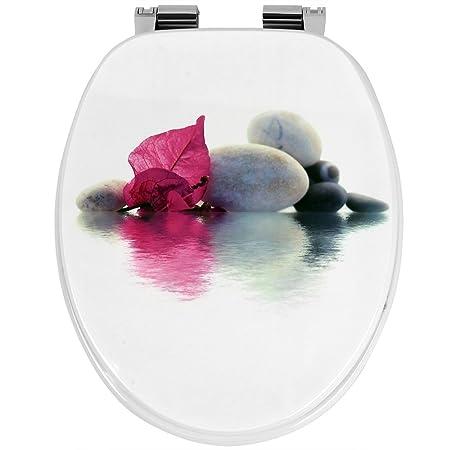 cierre suave Stone on the Water Asiento de inodoro bisagras de acero inoxidable MDF