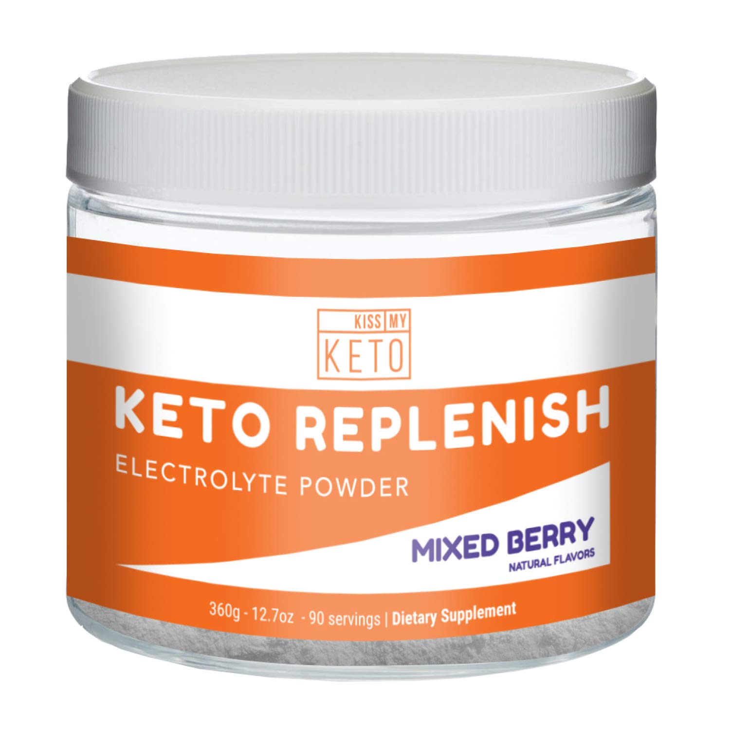 Kiss My Keto Electrolytes - Energy Supplement for Ketogenic Diet, Rapid Rehydration, Cramps, Recovery, Fatigue w/Himalayan Pink Salt, Calcium Potassium Magnesium Zinc (Powder)