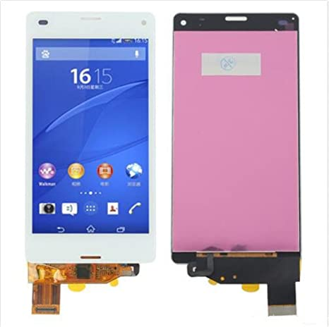 Sony Xperia Display im Komplettset LCD Ersatz Für Touchscreen Glas Reparatur (Sony Xperia Z3 Compact Mini D5803 D5833, Weiß)
