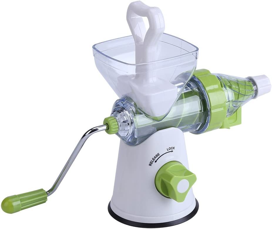 Manual Juicer, Manual Hand Crank Juicer, comfortable Plastic Juicer Machine, Kitchen for Home