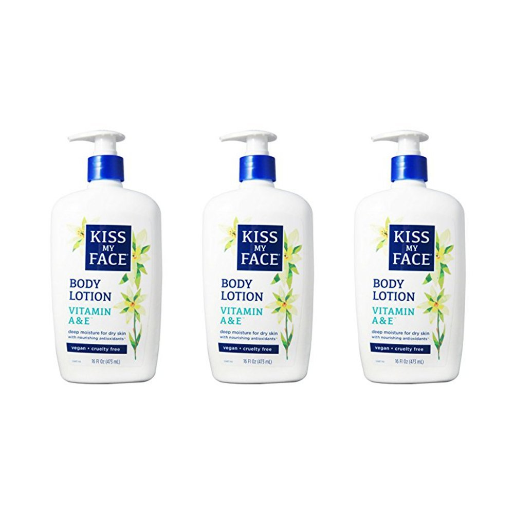 Kiss My Face Body Lotion Vitamin A & E 16 oz (Pack of 3)