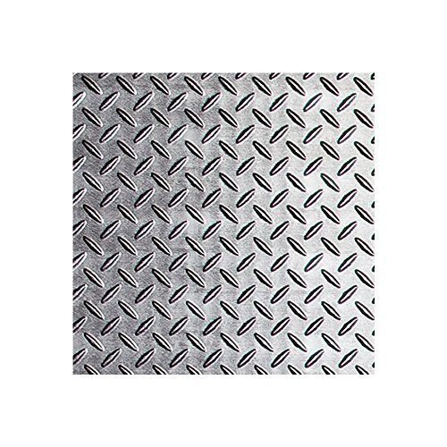 (Fasade - Diamond Plate Crosshatch Silver Decorative Wall Panel - Fast and Easy Installation (12