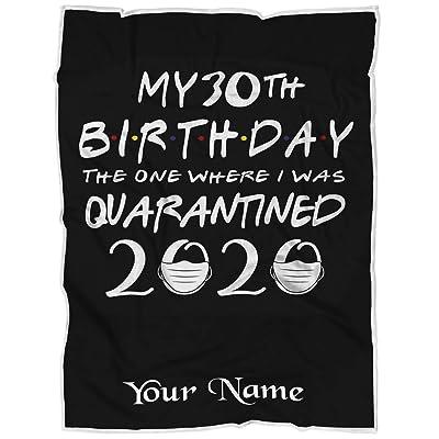 "VOTANTA Personalized Quarantine Birthday Blanket 2020 Quarantine Birthday Fleece Blanket Funny Quarantine Gift Perfect for Bedtime Bedding Gift - BK63 (50""x60"" Child): Home & Kitchen"