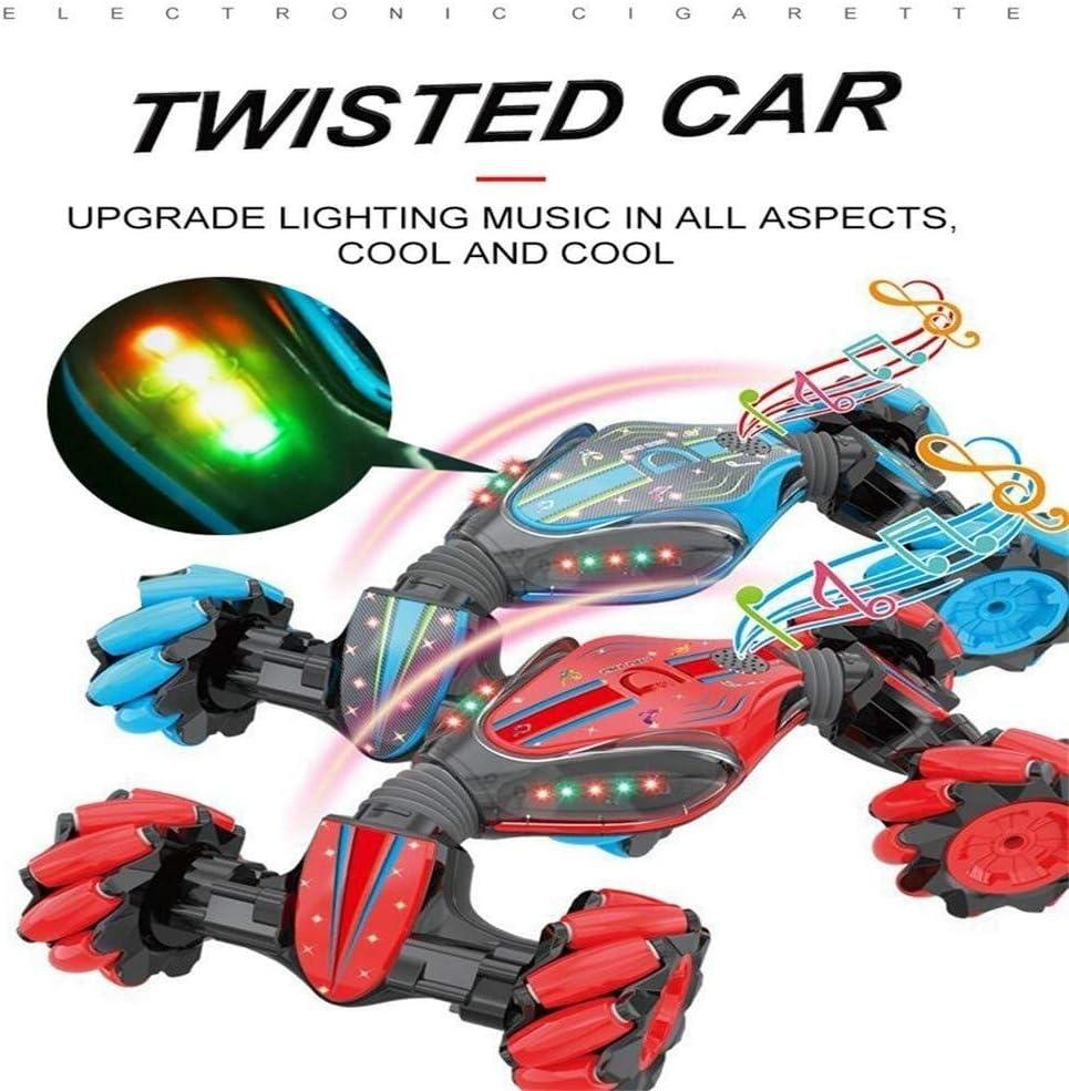 Quatre Roues Jouets Hors Route du véhicule for Enfants, Contrôle Twist Sensing Gesture à Distance de Voiture électrique Drift Stunt Escalade Voiture Souvenirs (Color : Red) Red