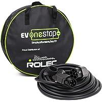 EV/Cable de Carga para vehículos eléctricos   Tipo 1 a Tipo 2   16 amperios (3.6kW)   5 Metros   Estuche de Transporte…