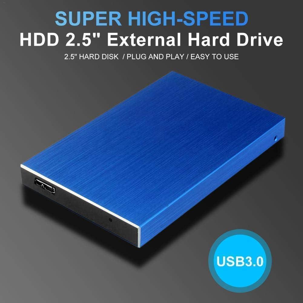 External Hard Drive Portable 1TB 2TB Slim External Hard Drive Compatible with PC Laptop Mac Desktop 2TB, Silver